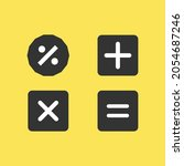 set of flat calculator icons in ...