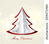 merry christmas and happy new... | Shutterstock . vector #205471984