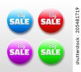 3d vector design elements with... | Shutterstock .eps vector #205481719