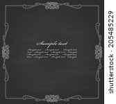vintage calligraphic square... | Shutterstock .eps vector #205485229