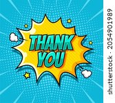 thank you text in comic pop art ...   Shutterstock .eps vector #2054901989