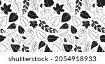 autumn leaves vector seamless...   Shutterstock .eps vector #2054918933