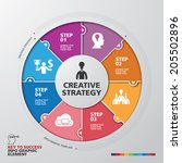 template modern info graphic... | Shutterstock .eps vector #205502896