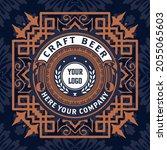 beer label with old frames   Shutterstock .eps vector #2055065603