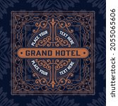western card with vintage style   Shutterstock .eps vector #2055065606