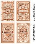 set of 4 vintage labels for...   Shutterstock .eps vector #2055065633
