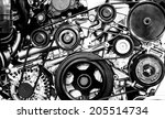 a fragment of the engine | Shutterstock . vector #205514734
