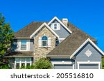 the roof of the house with nice ... | Shutterstock . vector #205516810