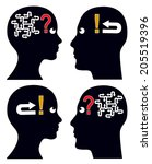 many questions simple answer.... | Shutterstock . vector #205519396