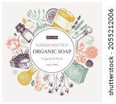 organic soap wreath design in...   Shutterstock .eps vector #2055212006