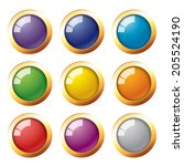 9 colors button icon | Shutterstock .eps vector #205524190