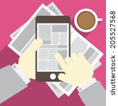 vector newspaper | Shutterstock .eps vector #205527568
