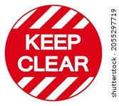 keep clear symbol sign  vector...   Shutterstock .eps vector #2055297719