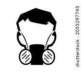 half face mask respirator black ...   Shutterstock .eps vector #2055297743