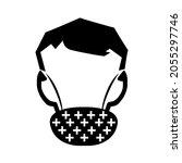 warning beard protection black...   Shutterstock .eps vector #2055297746
