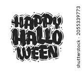 happy halloween text  halloween ... | Shutterstock .eps vector #2055339773