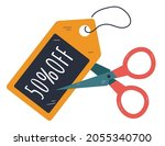 black friday coupon cutting... | Shutterstock .eps vector #2055340700