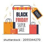 black friday online shopping... | Shutterstock .eps vector #2055344270