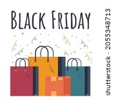 black friday bags sale discount ... | Shutterstock .eps vector #2055348713