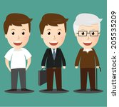 vector of age progress .boy ... | Shutterstock .eps vector #205535209