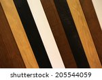 different kind of wooden laths  ... | Shutterstock . vector #205544059