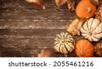 a rustic thanksgiving fall... | Shutterstock . vector #2055461216