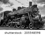 old steam engine locomotive | Shutterstock . vector #205548598