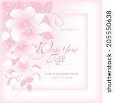 wedding card or invitation with ... | Shutterstock .eps vector #205550638