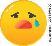 Emoji Cry Icon. Sad Emoticon...