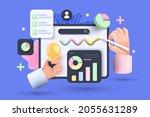 online marketing  financial...   Shutterstock .eps vector #2055631289