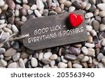 good luck and everything is... | Shutterstock . vector #205563940