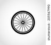 Silhouette Of A Bicycle Wheel...