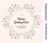 vector greeting card with... | Shutterstock .eps vector #2055690860