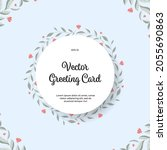 vector greeting card with... | Shutterstock .eps vector #2055690863