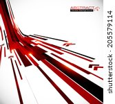 abstract red and black shining... | Shutterstock .eps vector #205579114