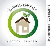 energy design over white... | Shutterstock .eps vector #205582546