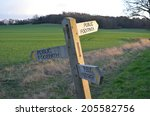 Public Footpath Direction Sign...