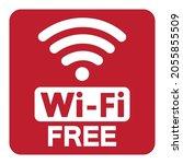 free wifi symbol sign  vector...   Shutterstock .eps vector #2055855509