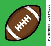football vector icon | Shutterstock .eps vector #205596298