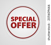 special offer circular icon on... | Shutterstock . vector #205609666