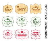 collection of vintage retro... | Shutterstock .eps vector #205610083