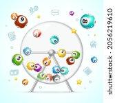 realistic 3d detailed casino...   Shutterstock .eps vector #2056219610
