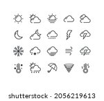 weather sign black thin line...   Shutterstock .eps vector #2056219613