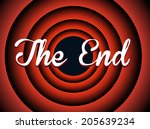 The End Typography. Old Movie...