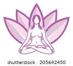 yoga meditation | Shutterstock .eps vector #205642450