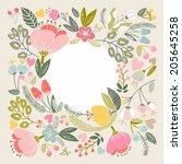 beautiful raster template of...   Shutterstock . vector #205645258