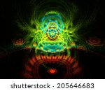 vibrant abstract fractal...   Shutterstock . vector #205646683