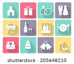wedding and love celebration... | Shutterstock . vector #205648210