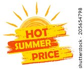 hot summer price banner   text... | Shutterstock .eps vector #205654798