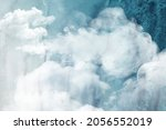 cloudy watercolor abstract... | Shutterstock . vector #2056552019